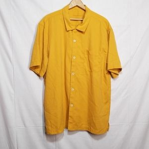 Tommy Bahama silk island zone  shirt Xl Orange